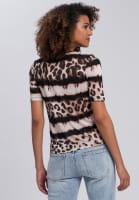 Shirt with leo-batik-pattern
