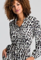 Dress with conspicuous animal print