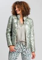 Quilted jacket metallic-look