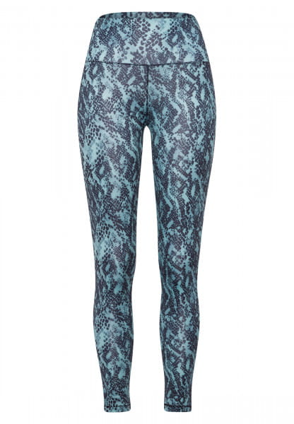 Leggings with accentuated reptile print