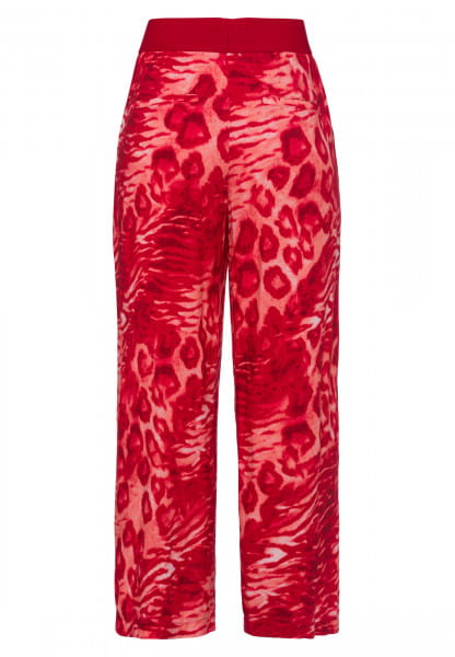 Culotte with animal all-over print