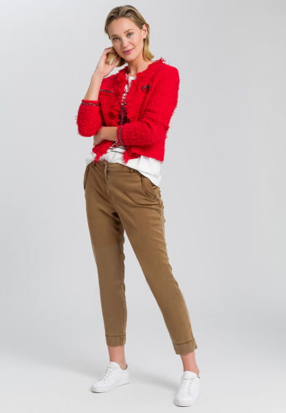 Chinese pants with flap pockets