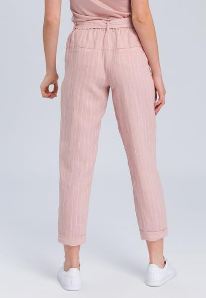 Linen pants stripe look