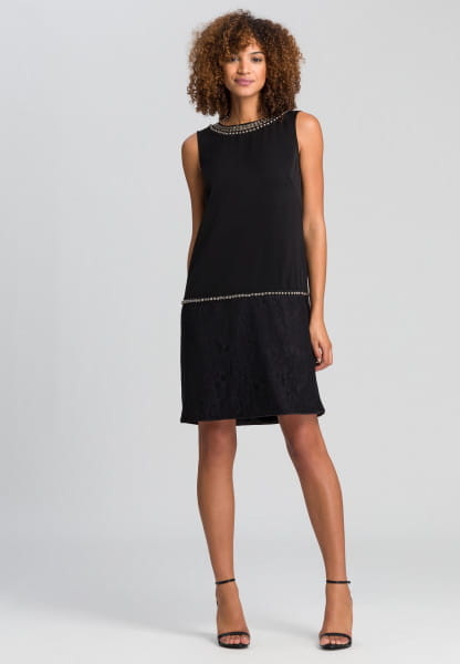 Dress with rivet embroidery