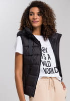 Quilted vest with vegan down filling