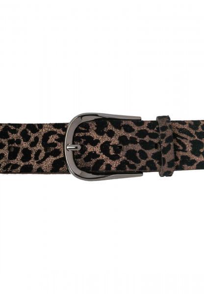 Belt in metallic leo look