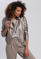 Biker jacket made from vegan faux leather