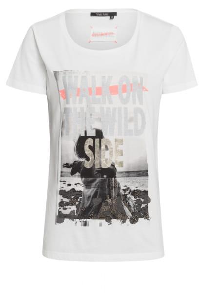 T-shirt with metallic photo print