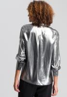 Blouse metallic-look