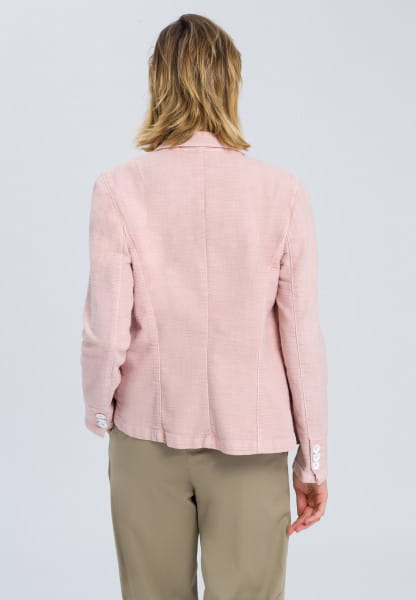 Blazer in structure optics with brooch