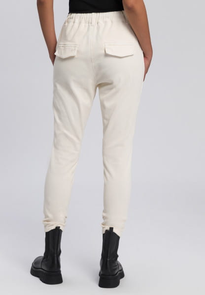 Jogging pants made from structured twill