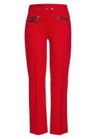 Zipper pants from elastic jersey
