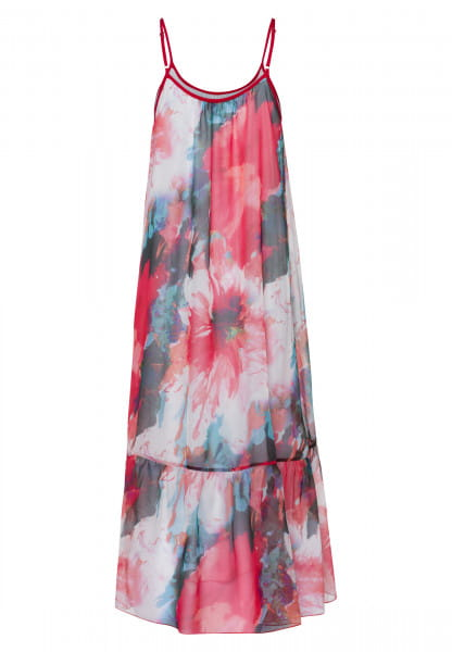 Maxi dress with watercolour flower-print
