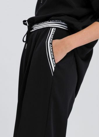 Pants contrast stripes with logo