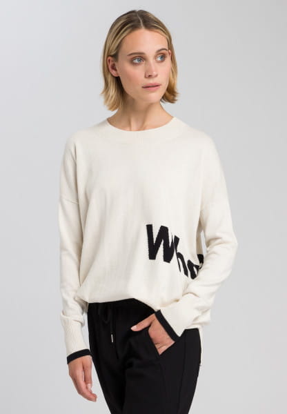 Jumper with embroidered motto lettering