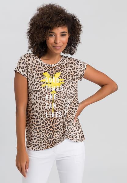 Leo shirt with palm tree print