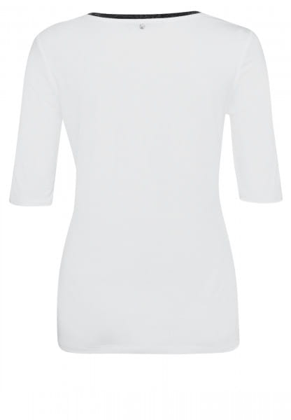 T-Shirt mit Frontprint und Strass