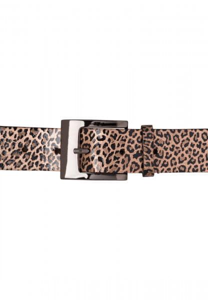 Belt with leo print
