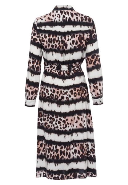 Shirt dress with leo batik pattern