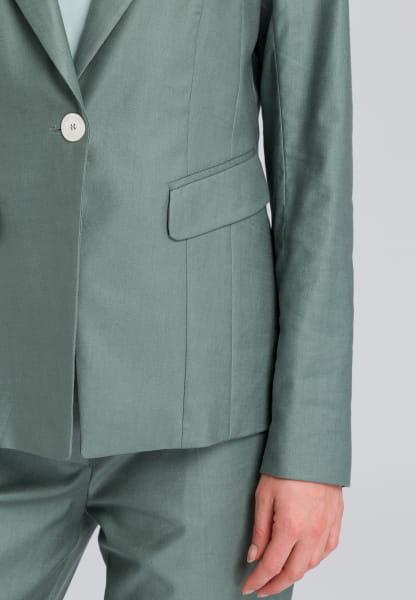 One-breasted coat im edlen Leinen-Look