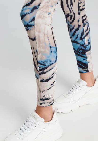 Leggings mit abstraktem Animalprint