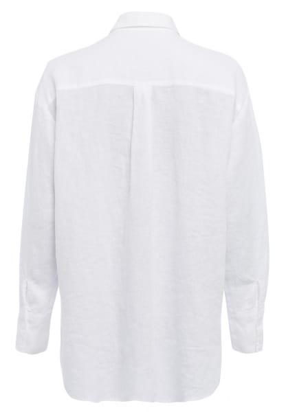 Linen blouse in oversized-look
