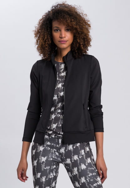Sports jacket with glossy motto print