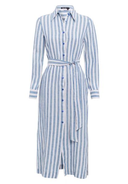 Blouse dress in striped-look