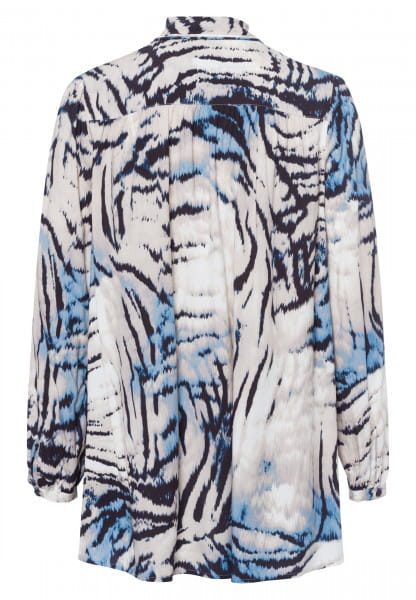 Blouse with abstact animal print