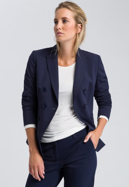 Blazer in jersey quality with double-breasted look