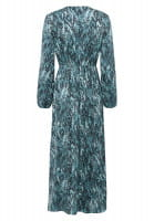 Maxi dress with reptile print