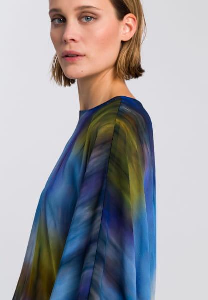 Blouse with batik print