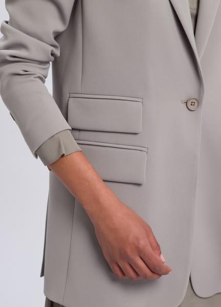Longblazer aus knitterfreiem Material