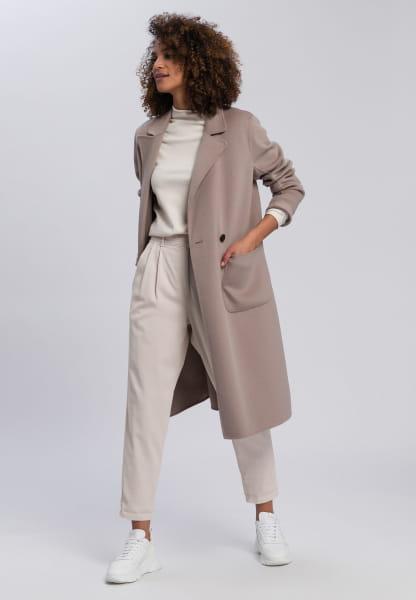 Doubleface-Mantel mit aufgesetzten Taschen