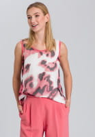 Top with modern watercolour print