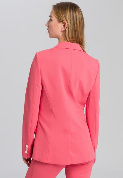 Jersey blazer with high-quality quilting edges