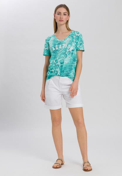 T-shirt with animal all-over print