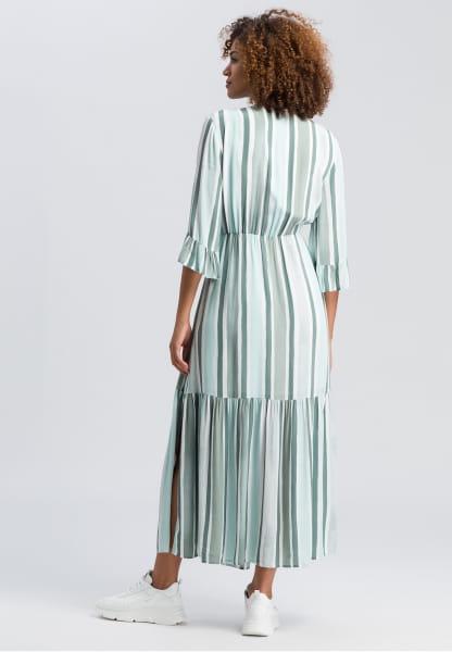 Dress in stripe-look