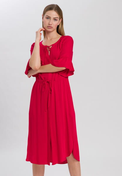 Dress with drawstring at the waist