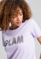 T-Shirt mit Strassschrift