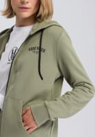 Zip Hoodie with large slogan print on the back