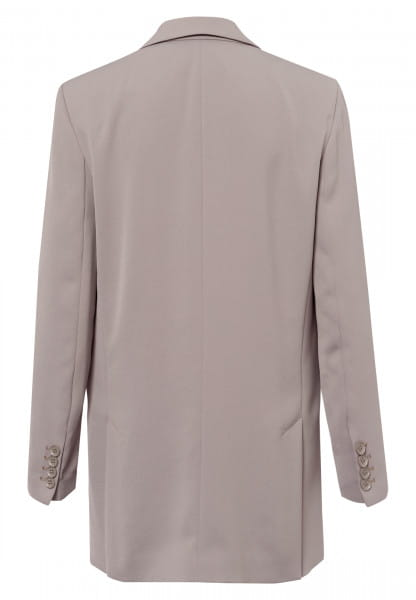 Long blazer made from crease-free material