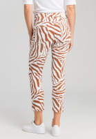 Jeans mit Tiger-Allovermuster