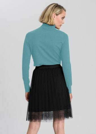 Turtleneck sweater made of soft fine knit