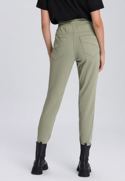 Lounge pants with pleasant haptic structure