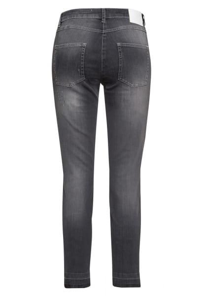 Grey Denim Jeans mit leichten Destroyed-Effekten