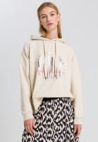 Hoodie from summery sweat material