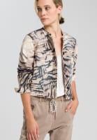 Jacke mit abstraktem Animalprint