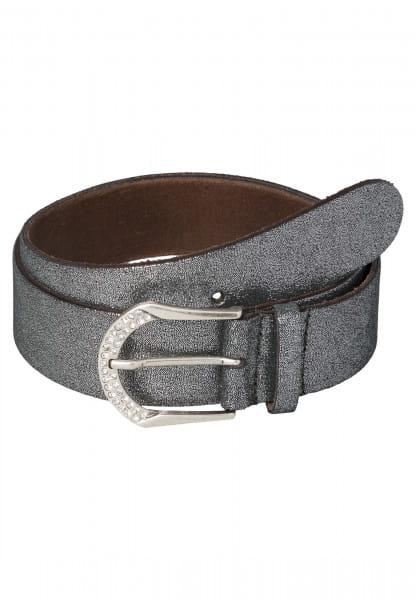 Belt with glitter stone