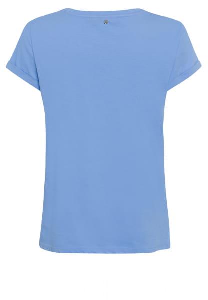 T-Shirt mit Glitzersteinchen-Dekor